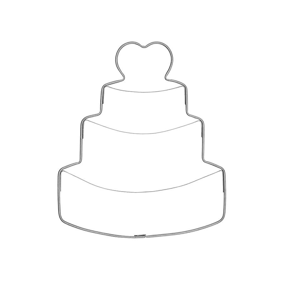 Hochzeitstorte - Keksausstecher