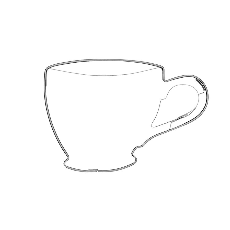 Kaffeetasse -Keksausstecher