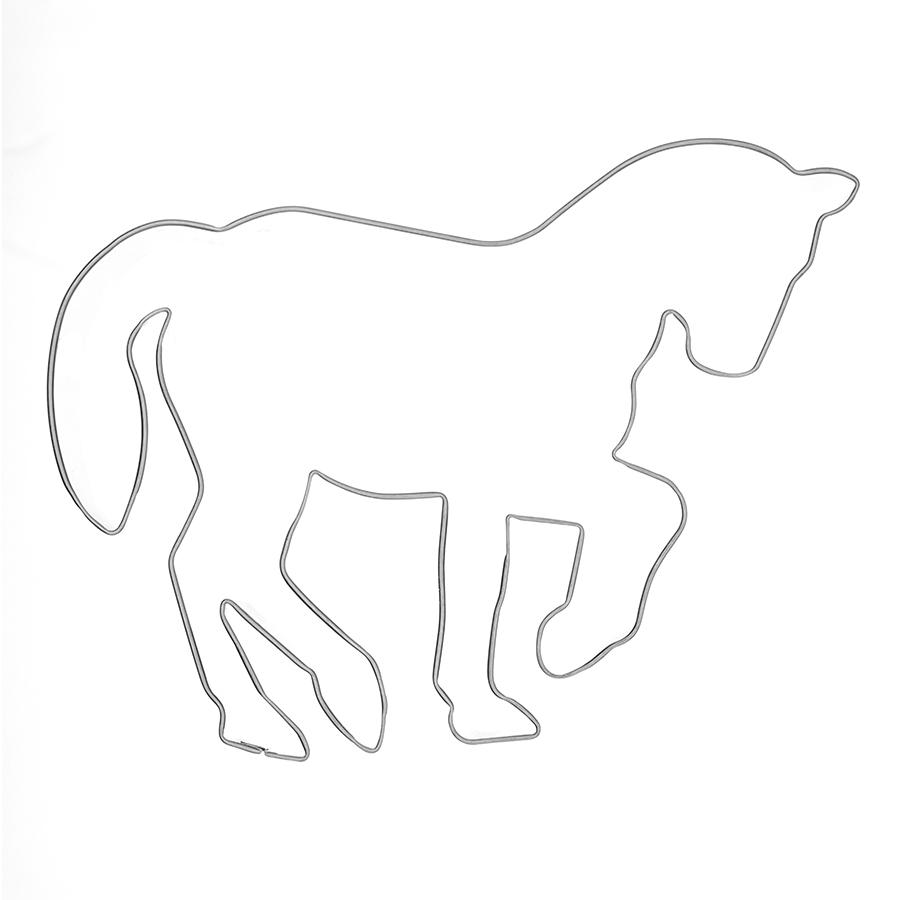 Pferd in Piaffe - Keksausstecher