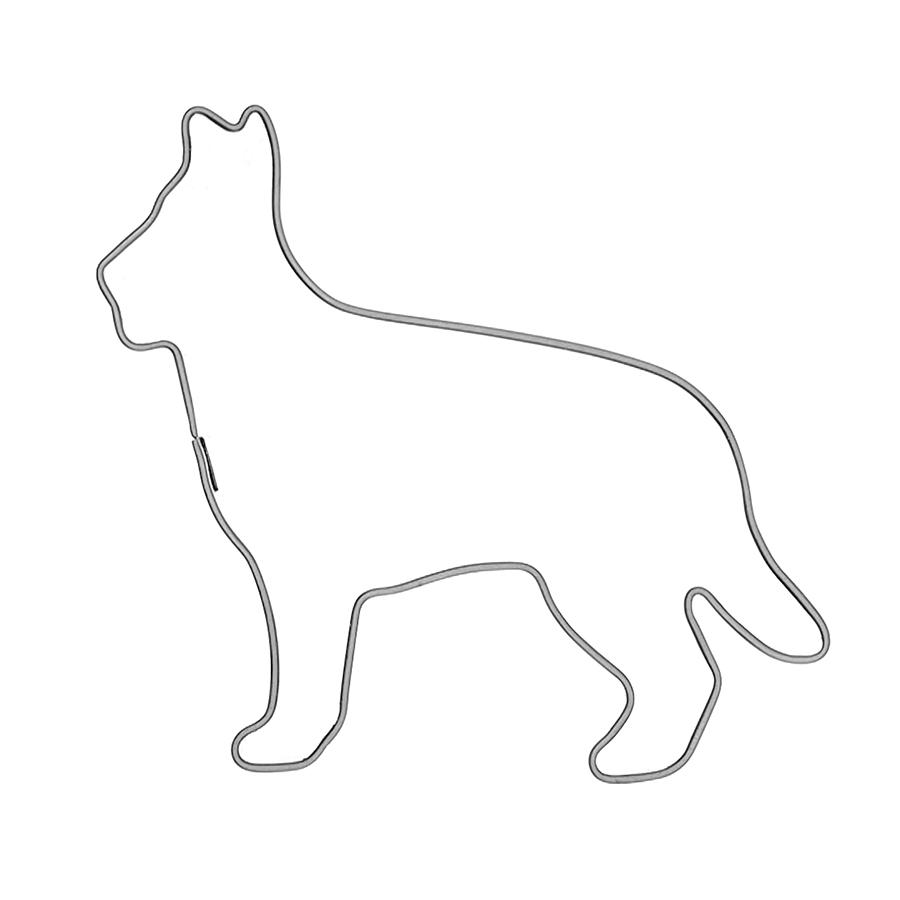 Schäferhund - Keksausstecher