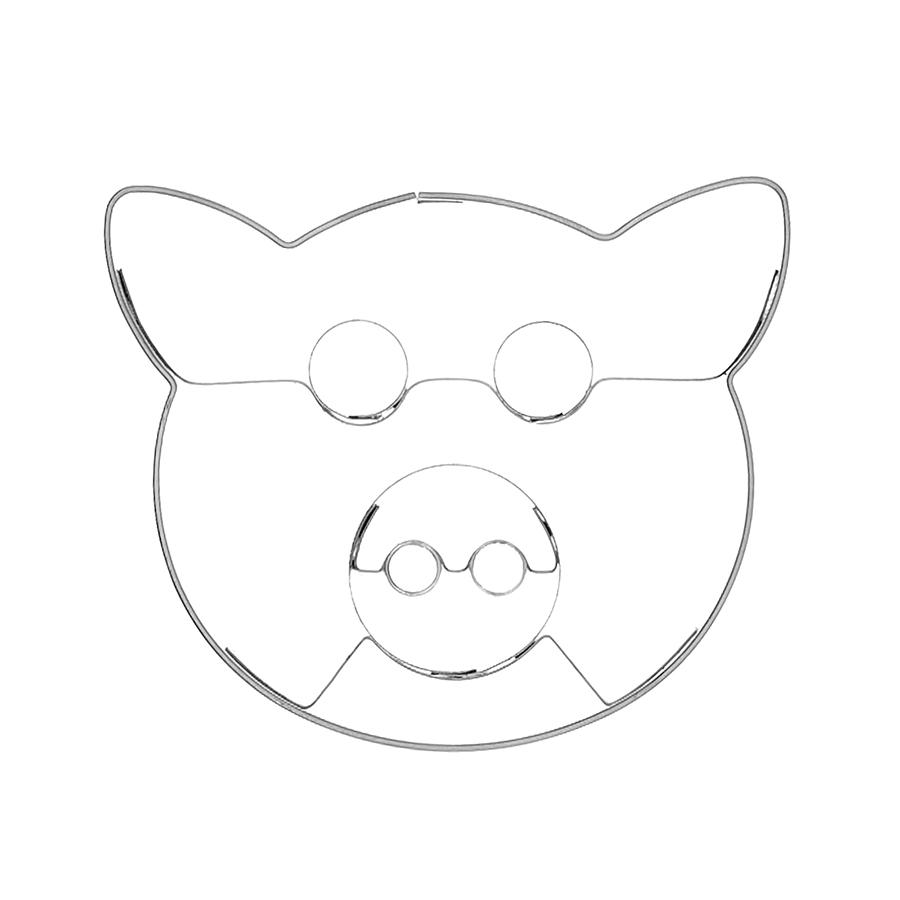 Schweineköpfchen - Keksausstecher