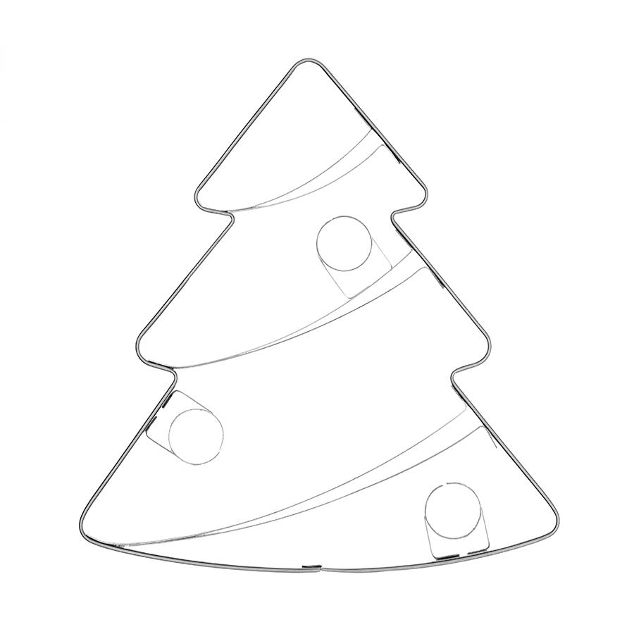 Weihnachtsbaum geschmückt groß -Keksausstecher
