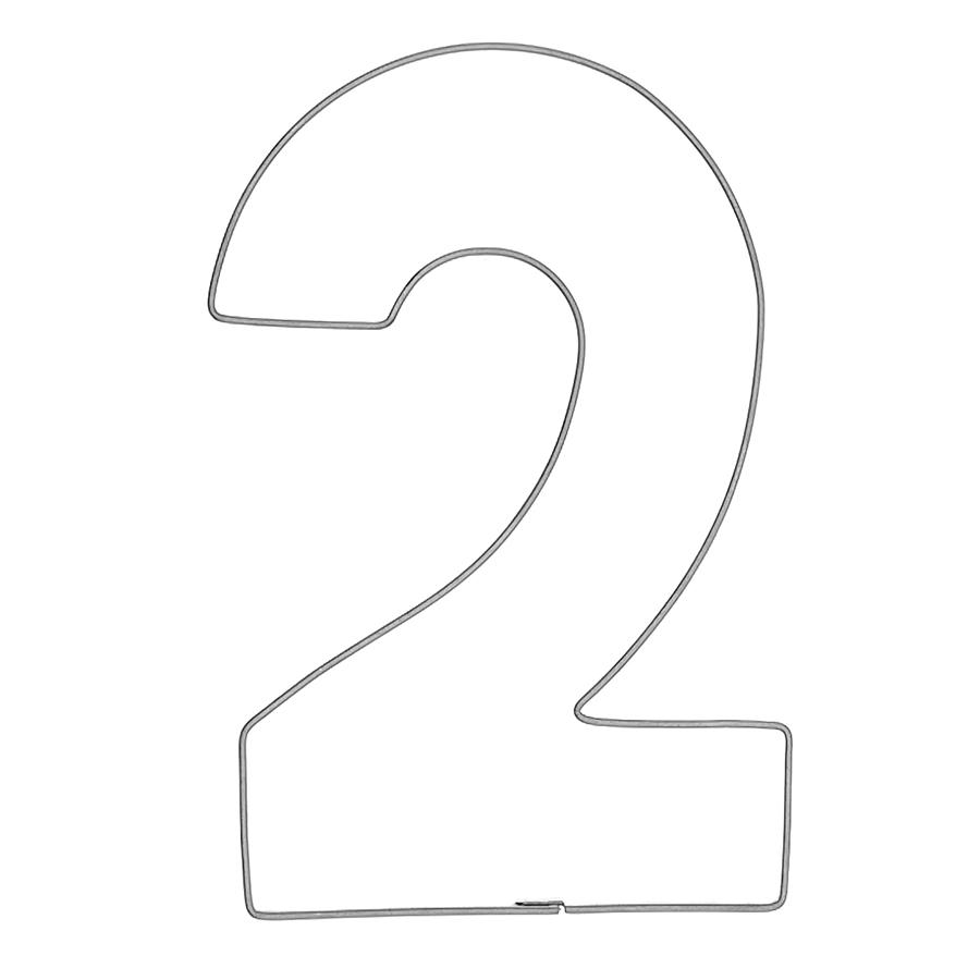 Zahl 2 - Keksausstecher