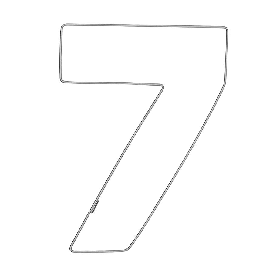 Zahl 7 - Keksausstecher